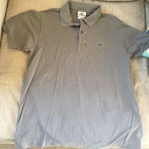 Men's Gray Lacoste classic Polo size 5